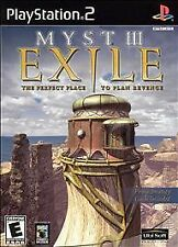 MYST 3 EXILE PS2 PLAYSTATION 2 GAME COMPLETE!