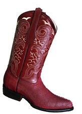 Men's leather stingray design cowboy boots western rodeo biker J toe low prices$