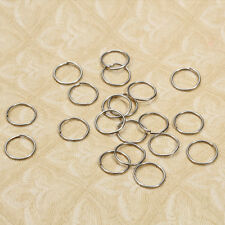 Silver Plated Hoop Sleeper Earrings 10mm Small Precious Metal without Stones