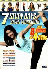 Seven Days Seven Workouts - 4 DVD BOX SET- 8 hours of exercise fitness routines