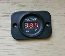 Marine Waterproof Voltmeter DC 12V-24V Yacht Boat Power Outlet Socket Caravan