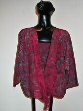 NWT Art To Wear Wild Thing-Wild Woman Rayon Batik Short Jacket Fits S To Plus 1X