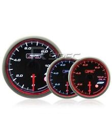 Prosport 60mm Fuel Pressure Gauge BAR Smoked Stepper WRC Style