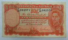 {BJSTAMPS}   1939  AUSTRALIA Ten Shillings  #26b