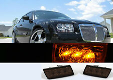 NEW 05-09 Chrysler 300 / 300C Amber 3 LED Smoke Bumper Lights Turn Signal Lamps