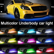 4Pcs RGB LED Under Car Wireless Remote Tube Strip Underglow Body Neon Light
