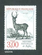 FRENCH POSTAGE - LE CERF HISTOIRE NATURELLE STAMP 3,00 POSTES FRANCE 1988