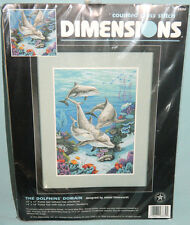 New Dimensions Dolphins' Domain Counted Cross Stitch Kit Underwater Ocean Fish