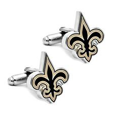 NEW ORLEANS SAINTS CUFFLINKS Football Sports Fan Team w GIFT BAG Fleur De Lis