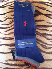 BNWT-MENS-RALPH-LAUREN-3-X-PACK-OF-RIBBED-SOCKS-WITH-POLO-HORSE-LOGO