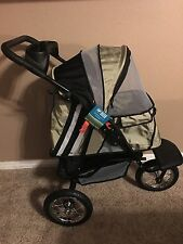 Guardian Gear Sprinter EXT II Stroller for Dogs and Cats Light Green W/ Reflect