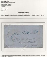 Inland Waterway Cover WAY 21 H/S 1 of 5 Known RARE NO to New York May 18, 1851