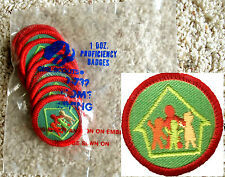 12 HOME LIVING, Girl Scout Red Worlds to Explore Badge NEW in 1 DOZEN PKG.