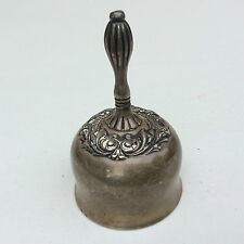 Antique ORNATE Sterling Silver Art Nouveau TEA DINNER BELL Repousse Hallmarked