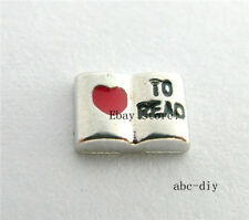 10pcs Love To Read Floating charms  memory floating Locket Free shipping 862