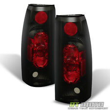 Black Smoke 1988-1998 Chevy Gmc Silverado Sierra Suv Truck Tail Lights Lamp G2
