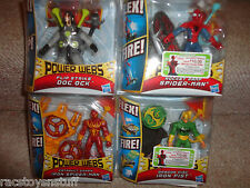 SPIDERMAN POWER WEB LOT OF 4 DIFFERENT FIGURES, ALL UNOPENED, FREE U.S. SHIP