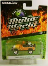 1991 '91 JEEP WRANGLER FLAMES MOTOR WORLD 17 GREENLIGHT GL DIECAST 2016