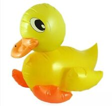 2x INFLATABLE BLOW UP DUCK ANIMAL TOY SWIMMING POOL NOVELTY 42CM LARGE UK SELLER