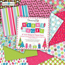 "Dovecraft Merry Magic 8"" x 8"" di marca documenti 12 FOGLI"