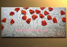 """YH736 42X20""""Hand painted Oil Canvas Wall Art home Decor abstract flower NO Frame"""