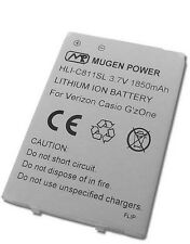 MUGEN POWER 1850mAh EXTENDED BATTERY FOR CASIO G'ZONE COMMANDO 2 C811 4G VERIZON