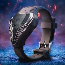 LED Digital Mens Watches Silicone Cobra Iron Triangle Dial Sport Wristwatch #BED