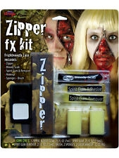Halloween Zipper Face Scary Kit Zip Bloody Scab Special Effect FX Makeup