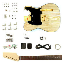 Electric Guitar DIY Kit Tele Ash Top Body - Unfinished Project Luthier