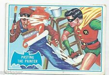 1966 Topps Batman Blue Bat with Bat Cowl Back (27B) Pasting The Painter
