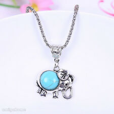 Turquoise Jewelry Lovers Present Gift Tibet Silver Elephant Necklace New Arrival