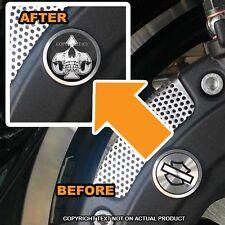 Brembo Front Brake Caliper Insert Set For Harley - GHOST SKULL SPADE - 092