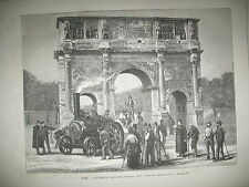 ITALIE ROME TRAIN LOCO ROUTIERE RUSSIE CHASSE A L'OURS VERDUN GRAVURES 1873