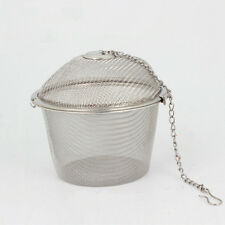 Reusable Stainless Steel Tea Ball Spice Strainer Mesh Infuser Filter Herbal Hook
