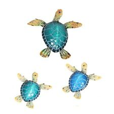 Realistic Marble Turtle & Babies Wall Art Wall Hanging Sculpture (sets of 3) BA