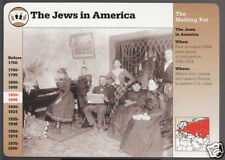 THE JEWS IN AMERICA Jewish Immigrants Photo GROLIER STORY OF AMERICA PHOTO CARD