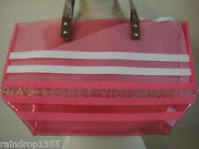 Victoria's Secret Translucent Pink White Tote Shopping Beach Bag