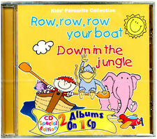 Row Row Row Your Boat & Down in the Jungle (2 albums on 1 CD - NEW AND SEALED)