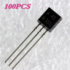 100PCS Transistor MPSA 42 MPSA42 MPS-A42 TO-92 NPN 0.5A/300V