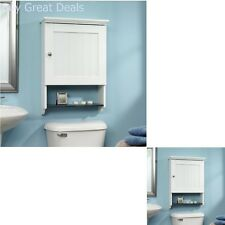 Wall Mount Bathroom Over The Toilet Space Saver Storage Cabinet Organizer White