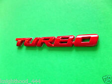 TURBO RED HONDA CIVIC ACURA RDX EMBLEM BADGE REAR FENDER TRUNK DOOR FENDER NEW