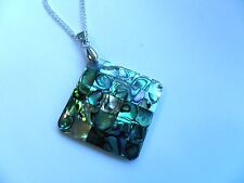 Beautiful  Abalone Shell Silver  Necklace