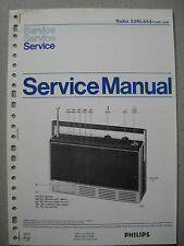 Philips 22 RL653 Kofferradio Service Manual