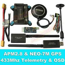 APM2.8 Flight Controller + NEO-7M GPS, 3DR 433Mhz Telemetry, OSD, Power Module