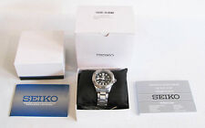SEIKO SNE107 Solar Powered Eco Diver's Watch Black Dial