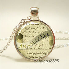 Edgar Allan Poe Necklace, Annabel Lee, Gothic Jewelry Pendant Necklace/43