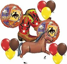 Western Party Balloon Supplies New Boots Cowboy Decor Horse 13-Pc Kids Adults