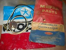 NOS MOPAR 1958 PLYMOUTH DODGE BACK UP SWITCH & CABLE