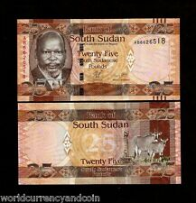 South SUDAN 25 POUNDS NEW 2011 ANIMAL UNC CURRENCY AFRICA MONEY BILL BANK NOTE