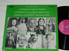UNFORGETTABLE VOICES-From German Operatic Repertoire (1969) Mono RCA VICTROLA LP
